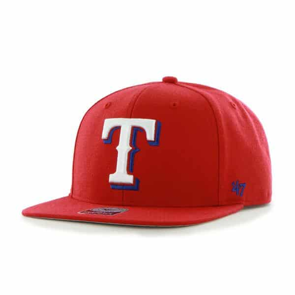 Texas Rangers Sure Shot Red 47 Brand Adjustable Hat