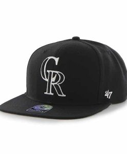 Colorado Rockies Sure Shot Black 47 Brand Adjustable Hat