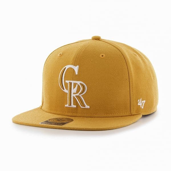 Colorado Rockies Sure Shot Wheat 47 Brand Adjustable Hat