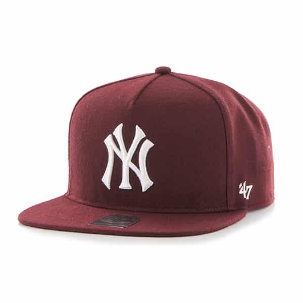 New York Yankees Sure Shot Dart Captain Dt Dark Maroon 47 Brand Adjustable Hat