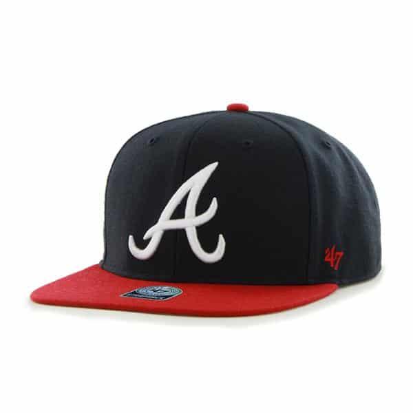Atlanta Braves Sure Shot Two Tone Captain Navy 47 Brand Adjustable Hat