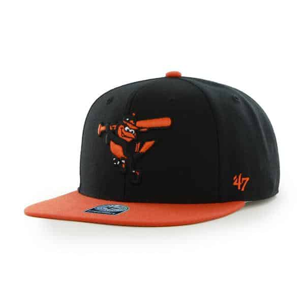 Baltimore Orioles Sure Shot Two Tone Captain Black 47 Brand Adjustable Hat