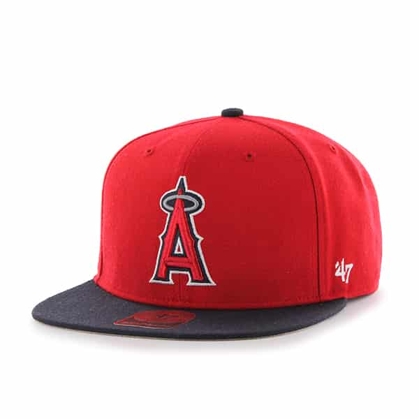 Los Angeles Angels Sure Shot Two Tone Captain Red 47 Brand Adjustable Hat