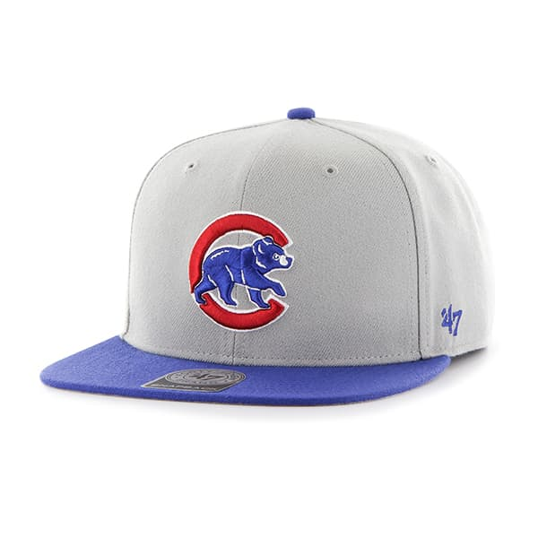 Chicago Cubs Sure Shot Two Tone Captain Gray 47 Brand Adjustable Hat