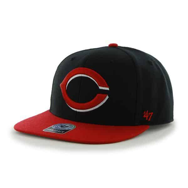 Cincinnati Reds Sure Shot Two Tone Captain Black 47 Brand Adjustable Hat