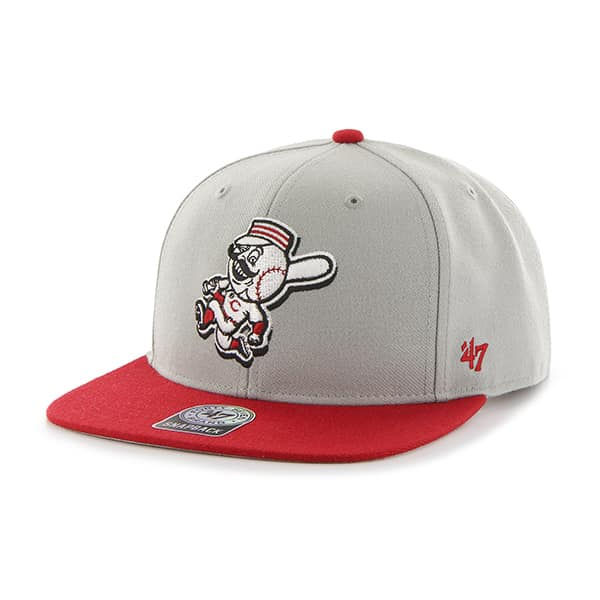 Cincinnati Reds Sure Shot Two Tone Captain Gray 47 Brand Adjustable Hat