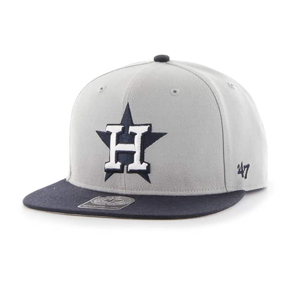 Houston Astros Sure Shot Two Tone Captain Gray 47 Brand Adjustable Hat