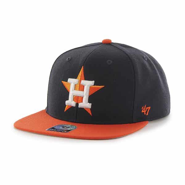 Houston Astros Sure Shot Two Tone Captain Navy 47 Brand Adjustable Hat