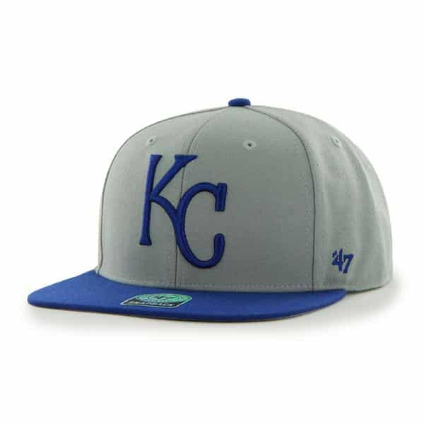 Kansas City Royals Sure Shot Two Tone Captain Gray 47 Brand Adjustable Hat