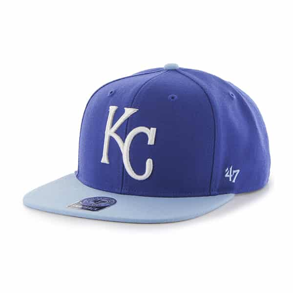 Kansas City Royals Sure Shot Two Tone Captain Royal 47 Brand Adjustable Hat