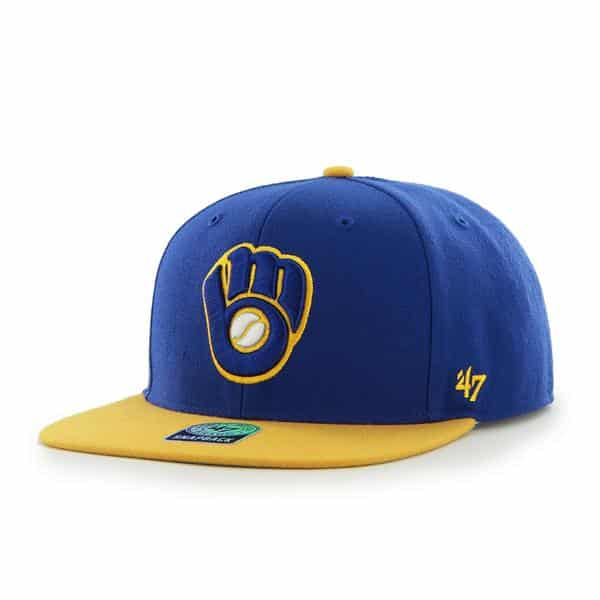 Milwaukee Brewers Sure Shot Two Tone Captain Royal 47 Brand Adjustable Hat
