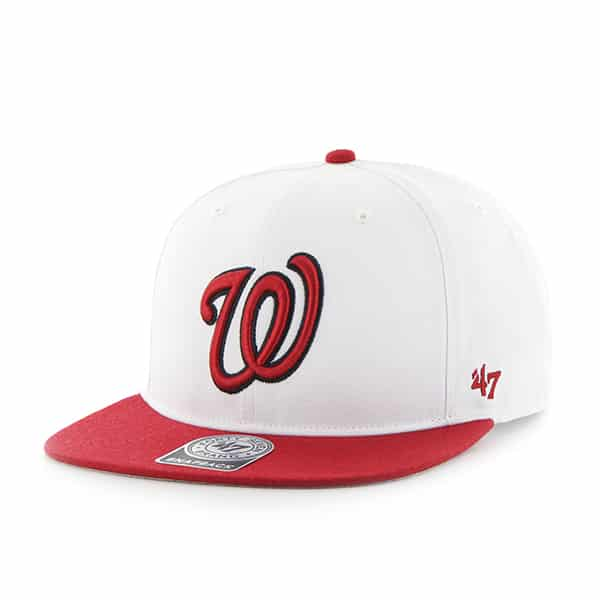 Washington Nationals Sure Shot Two Tone Captain White 47 Brand Adjustable Hat