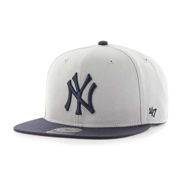 37b16e201456b New York Yankees Sure Shot Two Tone Captain Gray 47 Brand Adjustable Hat -  Detroit Game Gear