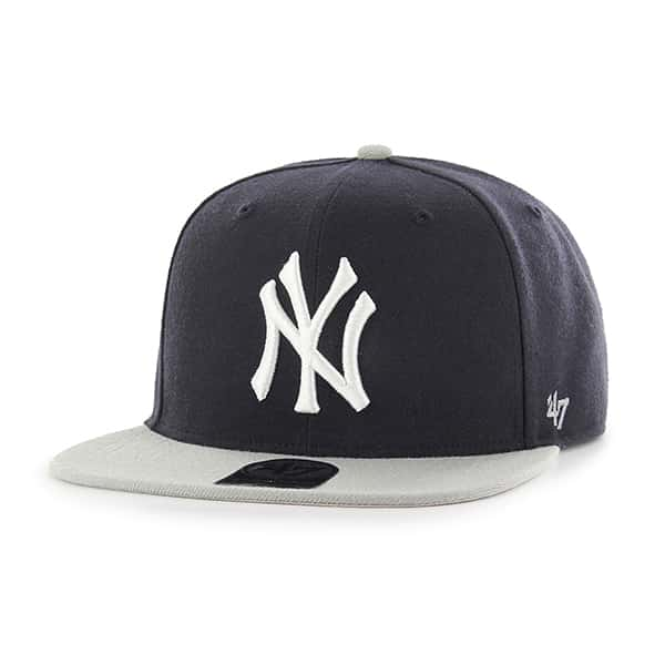 7faa545a526f1 New York Yankees Sure Shot Two Tone Captain Navy 47 Brand Adjustable Hat -  Detroit Game Gear