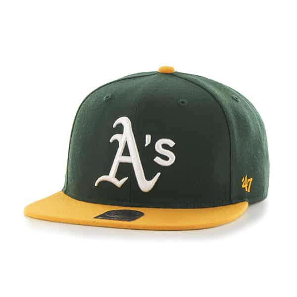Oakland Athletics Sure Shot Two Tone Captain Dark Green 47 Brand Adjustable Hat