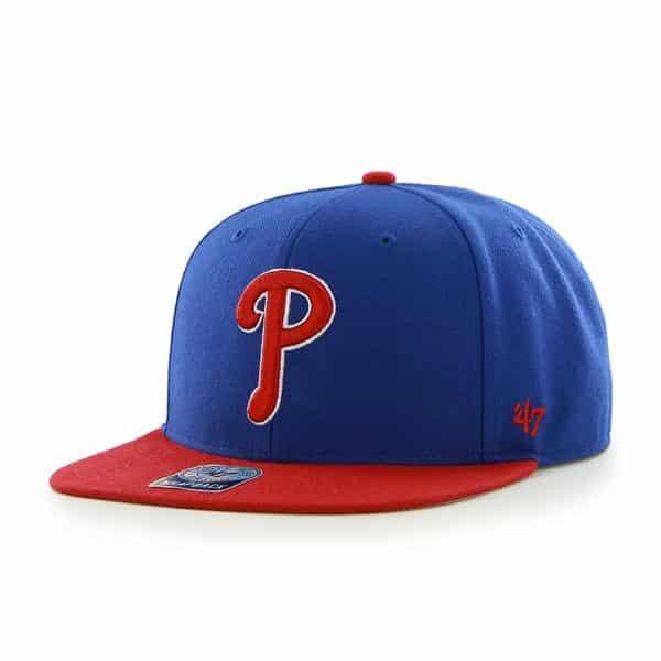 Philadelphia Phillies Sure Shot Two Tone Captain Royal 47 Brand Adjustable Hat