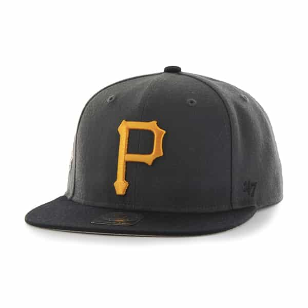Pittsburgh Pirates Sure Shot Two Tone Captain Charcoal 47 Brand Adjustable Hat