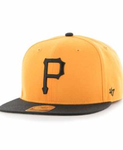 Pittsburgh Pirates Sure Shot Two Tone Captain Gold 47 Brand Adjustable Hat