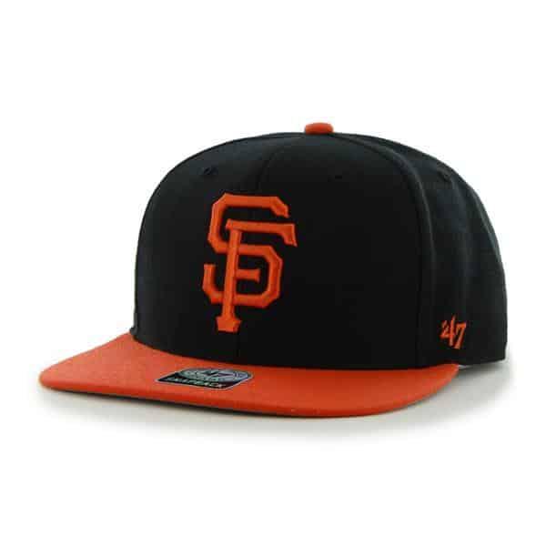 San Francisco Giants Sure Shot Two Tone Captain Black 47 Brand Adjustable Hat