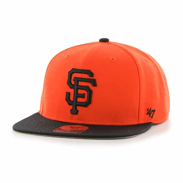 San Francisco Giants Sure Shot Two Tone Captain Orange 47 Brand Adjustable Hat