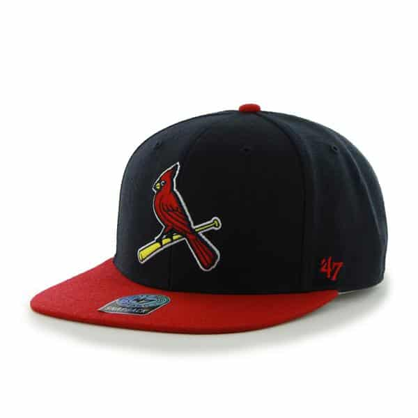 St. Louis Cardinals Sure Shot Two Tone Captain Navy 47 Brand Adjustable Hat