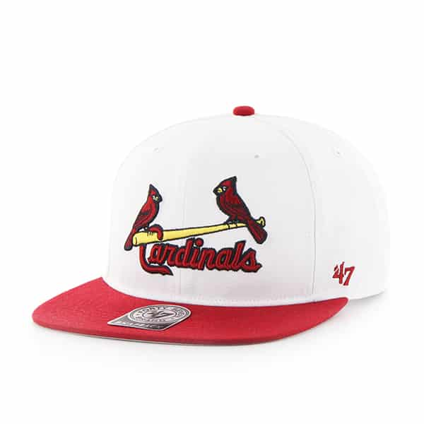 St. Louis Cardinals Sure Shot Two Tone Captain White 47 Brand Adjustable Hat