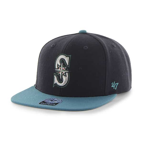 Seattle Mariners Sure Shot Two Tone Captain Navy 47 Brand Adjustable Hat
