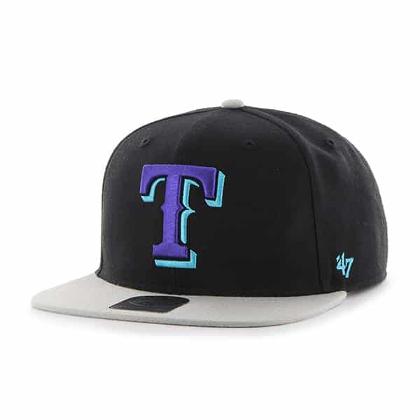 Texas Rangers Sure Shot Two Tone Captain Black 47 Brand Adjustable Hat