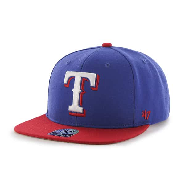 Texas Rangers Sure Shot Two Tone Captain Royal 47 Brand Adjustable Hat