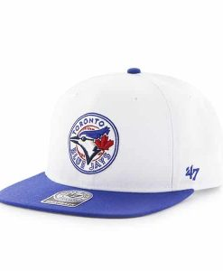 Toronto Blue Jays Sure Shot Two Tone Captain White 47 Brand Adjustable Hat