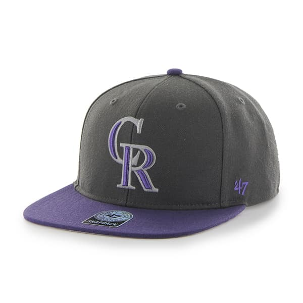 Colorado Rockies Sure Shot Two Tone Captain Charcoal 47 Brand Adjustable Hat