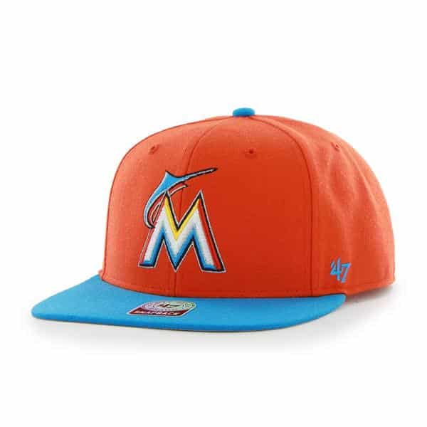 Miami Marlins Sure Shot Two Tone Captain Thunder 47 Brand Adjustable Hat