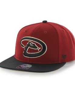 Arizona Diamondbacks Sure Shot Two Tone Captain Razor Red 47 Brand Adjustable Hat