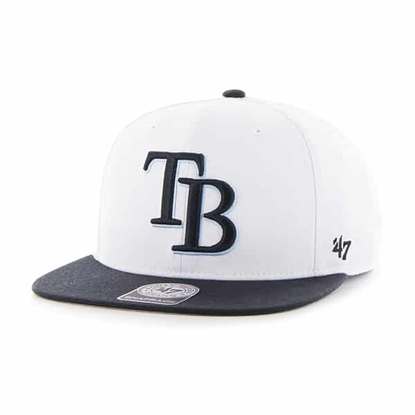 Tampa Bay Rays Sure Shot Two Tone Captain White 47 Brand Adjustable Hat