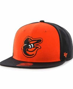 Baltimore Orioles Sure Shot Accent Captain Black 47 Brand Adjustable Hat