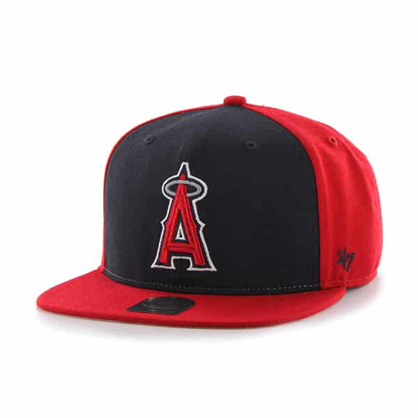 Los Angeles Angels Sure Shot Accent Captain Red 47 Brand Adjustable Hat