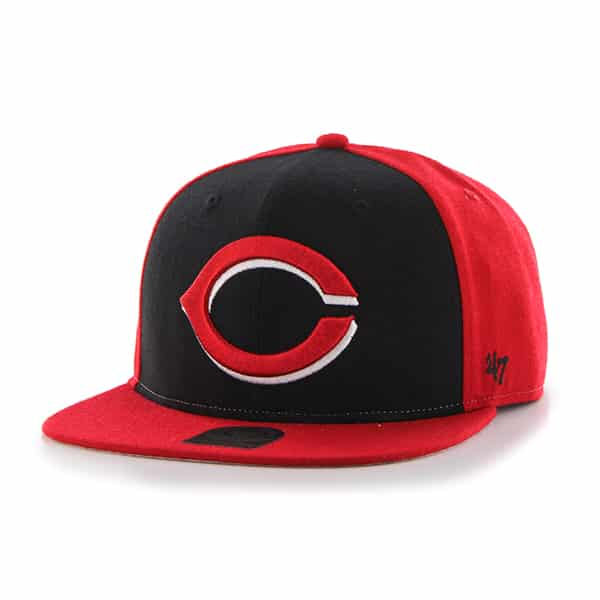 Cincinnati Reds Sure Shot Accent Captain Red 47 Brand Adjustable Hat