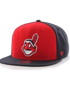 Cleveland Indians Sure Shot Accent Captain Navy 47 Brand Adjustable Hat