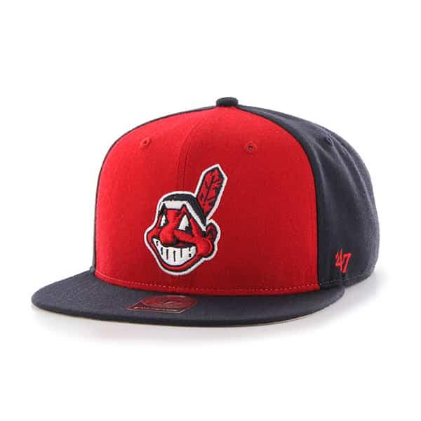 Cleveland Indians Sure Shot Accent Captain Navy 47 Brand Adjustable Hat