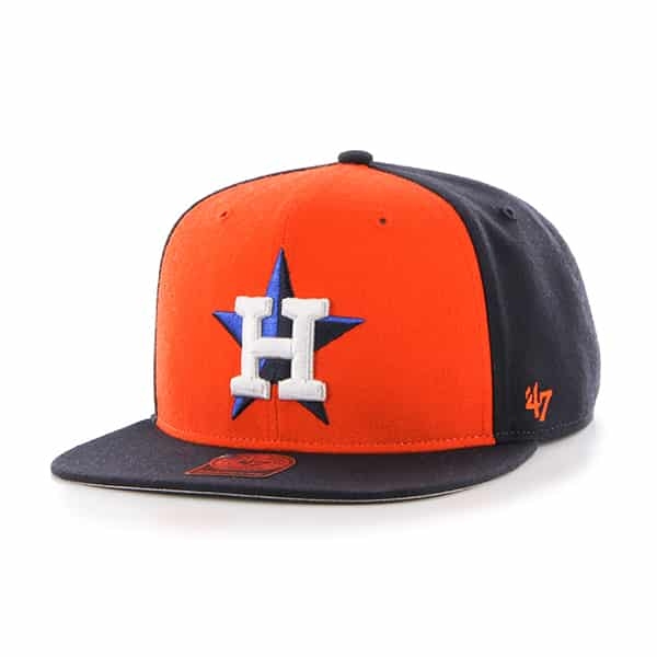 Houston Astros Sure Shot Accent Captain Navy 47 Brand Adjustable Hat