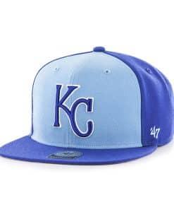 Kansas City Royals Sure Shot Accent Captain Royal 47 Brand Adjustable Hat