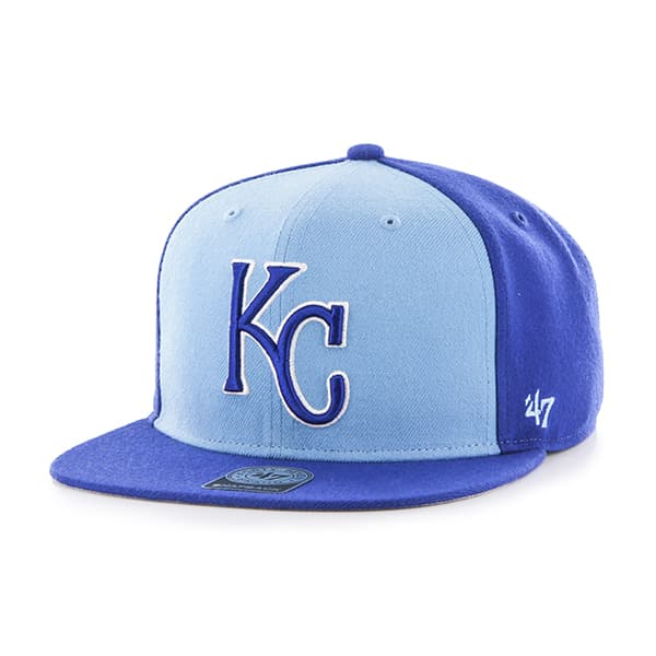 Kansas City Royals Sure Shot Accent Captain Royal 47 Brand Adjustable Hat
