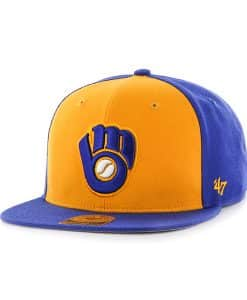 Milwaukee Brewers Sure Shot Accent Captain Royal 47 Brand Adjustable Hat