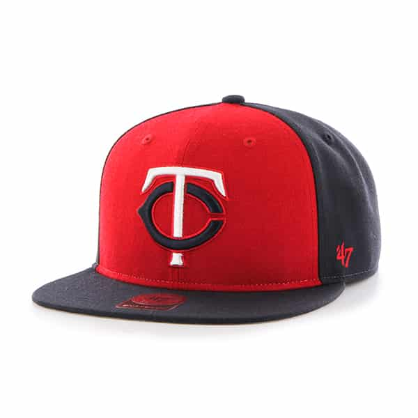 Minnesota Twins Sure Shot Accent Captain Navy 47 Brand Adjustable Hat
