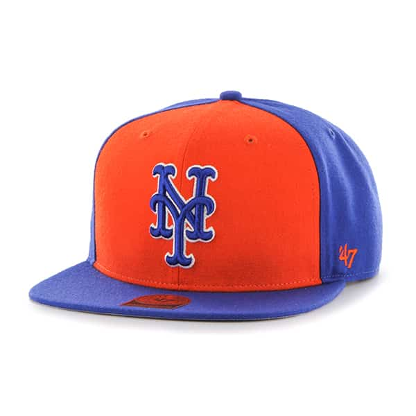 New York Mets Sure Shot Accent Captain Royal 47 Brand Adjustable Hat