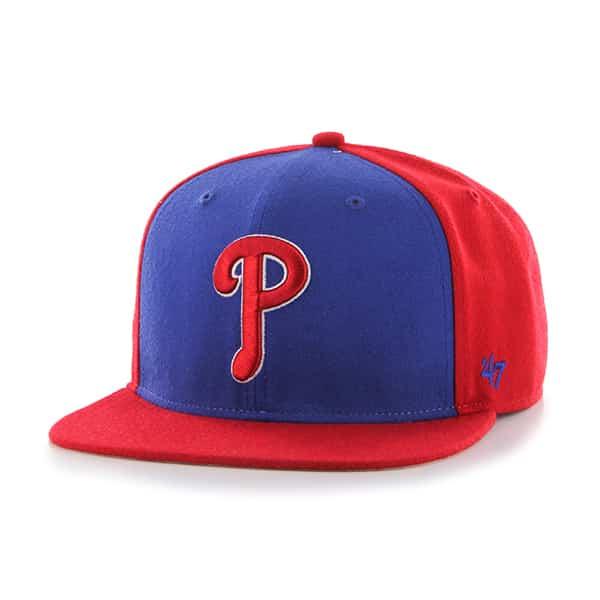 Philadelphia Phillies Sure Shot Accent Captain Red 47 Brand Adjustable Hat