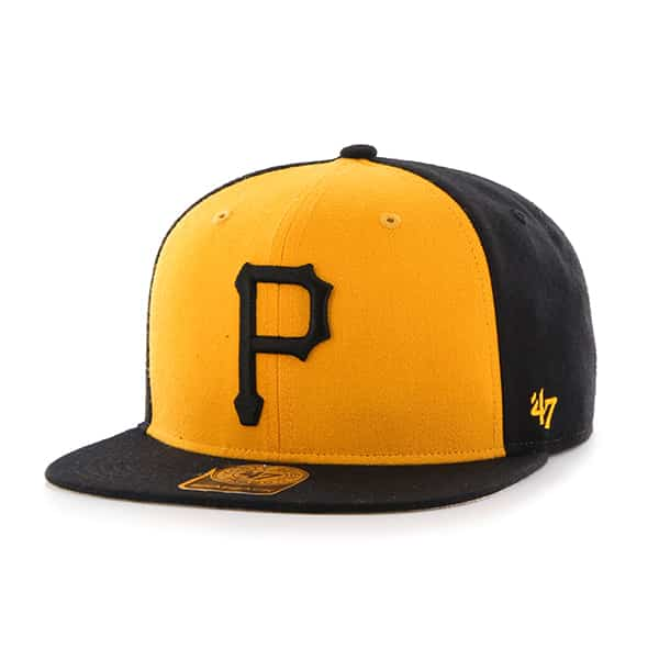 Pittsburgh Pirates Sure Shot Accent Captain Black 47 Brand Adjustable Hat