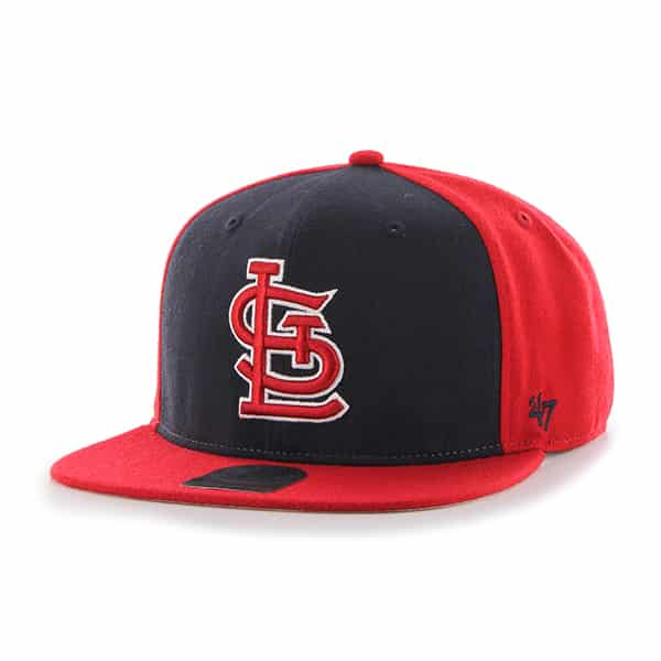 St. Louis Cardinals Sure Shot Accent Captain Red 47 Brand Adjustable Hat