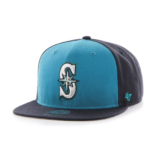 Seattle Mariners Sure Shot Accent Captain Navy 47 Brand Adjustable Hat