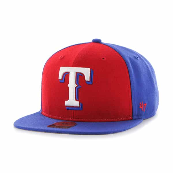 Texas Rangers Sure Shot Accent Captain Royal 47 Brand Adjustable Hat